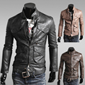 Mens Leather Jackets Pu Leather Jaqueta Masculinas Inverno Couro Jacket Men Jaquetas De Couro Men's Winter Leather Jacket 14JK16