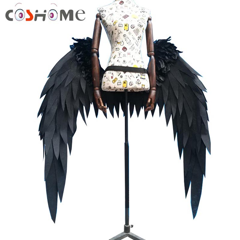 Coshome Anime Overlord Albedo Cosplay Costume Wings Horns Cosplay Props Accessories