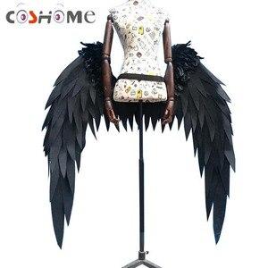 Coshome Anime Overlord Albedo Cosplay Kostüm Flügel Hörner Cosplay Requisiten Zubehör
