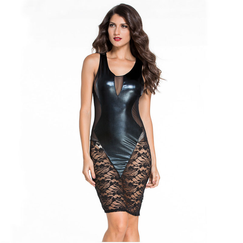 Compare Prices on Black Faux Leather Dress- Online Shopping/Buy ...