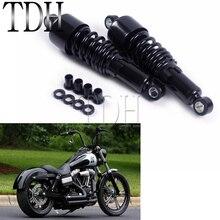 1 пара, черный мотоциклетный амортизатор с регулируемой задней подвеской 10,5 дюйма для Harley Sportster Dyna Touring FLH FLT 80 2017