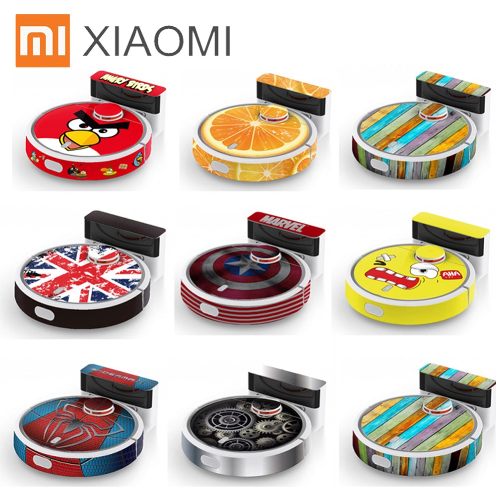 New Cute Sticker for XIAOMI MIJIA Robot Vacuum Cleaner Beautifying Protective Film Sticker paper cleaner parts not brush filter