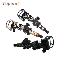 Archery 5 pins 019 Bow Sight with Micro Adjust Detachable Bracket Sight Light for Both Right /Left Hand Compound Bow Archery