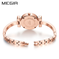 2018 MEGIR Luxury Brand Women Bracelet Watch Brass Ladies Quartz Watches Clock Gift for Girl lover Couple Bracelet Montre Femme