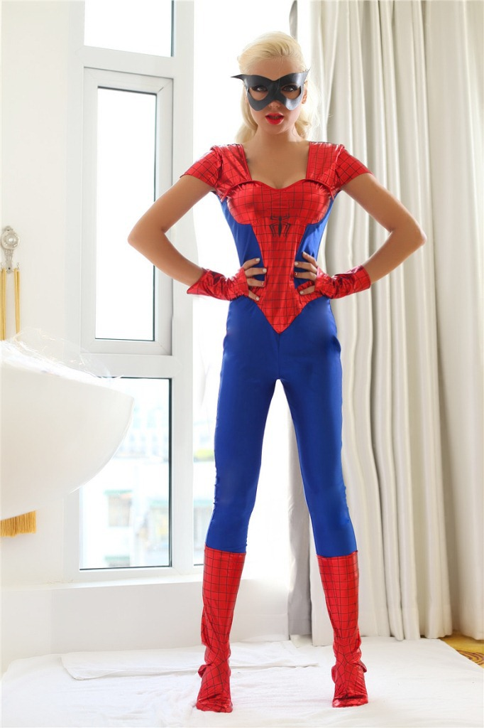 Halloween Costumes For Women Women Spiderman Costume Christmas Carnaval Clothes Adult Deguisement Jumpsuits Anime Cosplay-in Movie u0026 TV costumes from ... & Halloween Costumes For Women Women Spiderman Costume Christmas ...