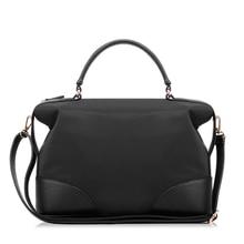 Top Brand Fashion Simple Tote Bag Handbag Women Trendy Casual  PU Nylon Splicing Boston Bag Ladies Waterproof Crossbody Bag