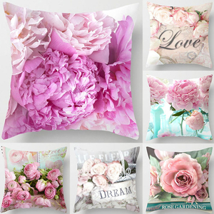 40*40cm Rose Flowers Pillow Ca