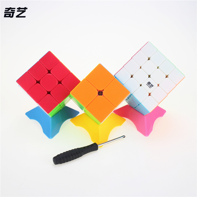 QiYi 2x2x2 3x3x3 4x4x4 1Set/3pcs Magic Cube Competition Speed Puzzle Cubes Toys For Children Kids cubo stickerless Matte cube