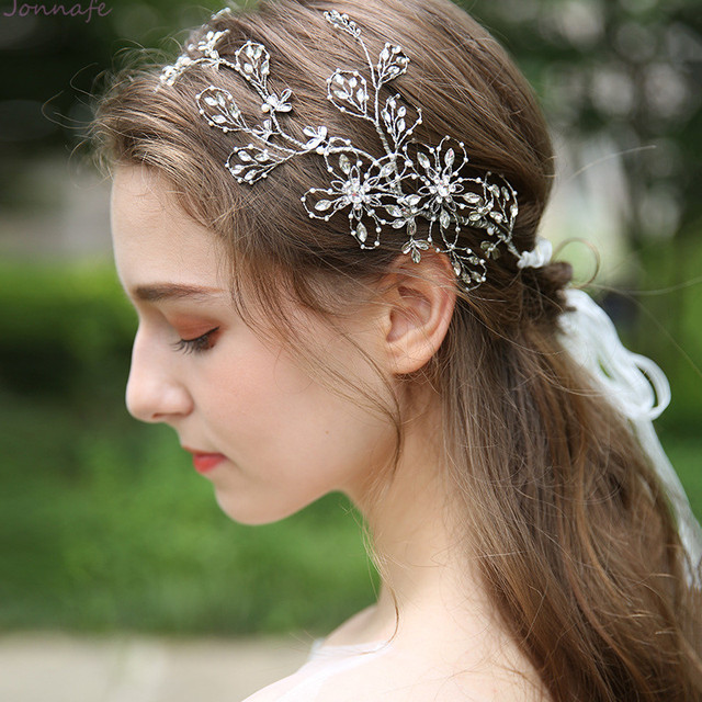 Jonnafe Beads Crystal Bridal Tiara Crown Handmade Women Prom Hairband Hair  Jewelry Wedding Crown Hair Accessories 31c3672c8524