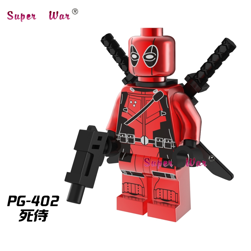 20pcs superhero marvel Chrom Deadpool building blocks action bricks model educational diy toys