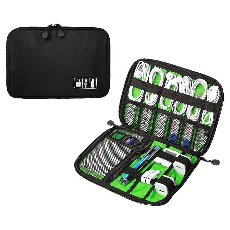 Portable Travel Cable Organizer Bag Electronics Accessories Storage Case