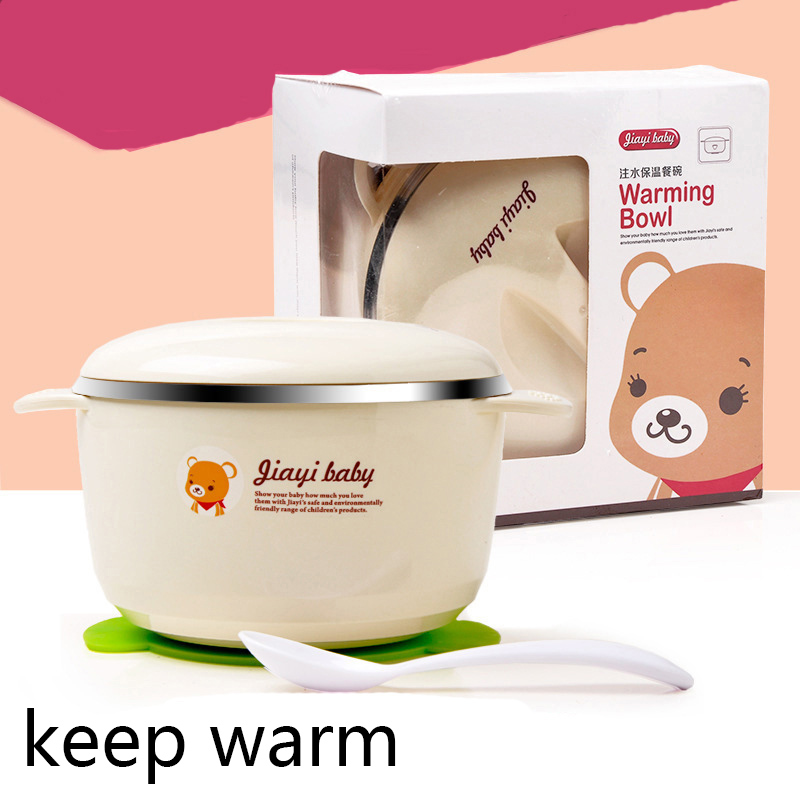 Baby Bowl Set Feeding Cup Bears Baby Bowl Suction Plate Bpa Free Stainless Steel Baby Bowls With Spoon Lid Kids Dinnerware Set