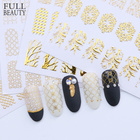1pcs 3D Gold Bronzing Decals Nail Sticker DIY Hallow Adhesive Flower Full Gel Polish Decorations Nail Art Manicure CHAD101-106