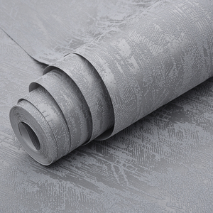 Image 4 - קלאסי רגיל גריי מובלט מרקם טפט מודרני פשוט עיצוב מוצק צבע קיר נייר רול בית תפאורה רקע