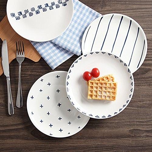 Croatie emblème National pays symbole Dessert assiette décorative porcelaine 8 pouces dîner maison - 3
