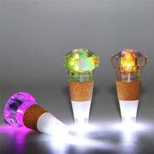 Wine Bottle Cap Night Light USB Rechargeable Multicolor Cork Lamp 1PC Creative LED Diamond Shape Fairy