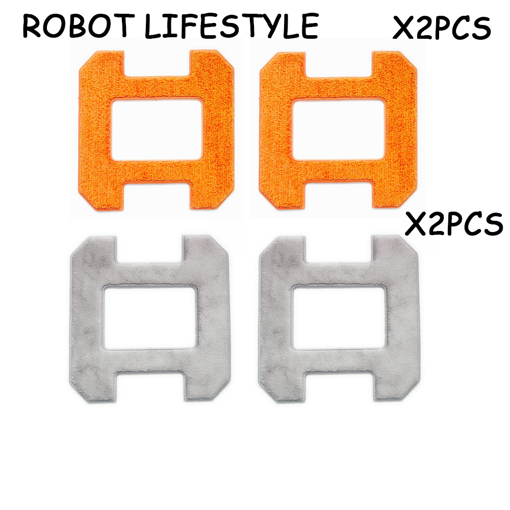 Window Cleaning Robot Fiber Mop Cloths 4pcs For Vacuum X6 Cleaner Parts
