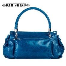 Vintage style women s genuine leather handbag Tote top cowhide shoulder bag clutch evening bag braided