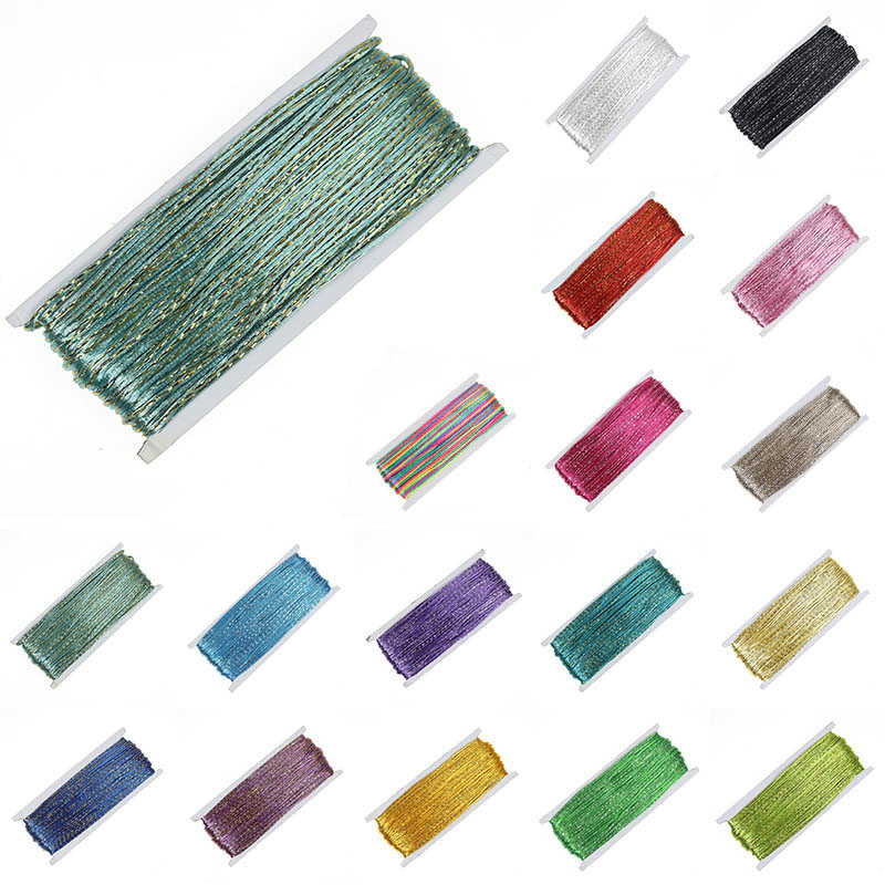 20 Colors 30 Yard/lot Soutache Cord 3mm Nylon Rope Cords Briaded Gold/Silver Wire Soutache Thread For DIY Jewelry Making Finding