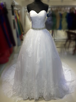 PoemsSongs High Quality Custom Made Off The Shoulder Lace And Silky Organza Wedding Dress Vestidos