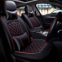 Uniwersalne skórzane pokrowce na siedzenia samochodowe auto pokrowce dla Mitsubishi pajero pinin sagma spae gwiazda grandis haunter Lancia Ypsilon Delta