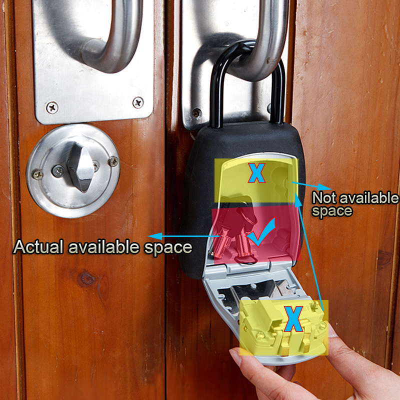 Master Lock Key Lock Box Keys Storage Padlock Combination Password Lock Alloy Material Keys Hider Hook Security Organizer Boxes