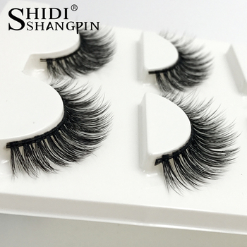 163101ca2b4 Best Price New 3 Pairs mink eyelashes natural long false eyelashes 3d mink  lashes makeup 3d eyelash extensions fake eye lashes maquiagem