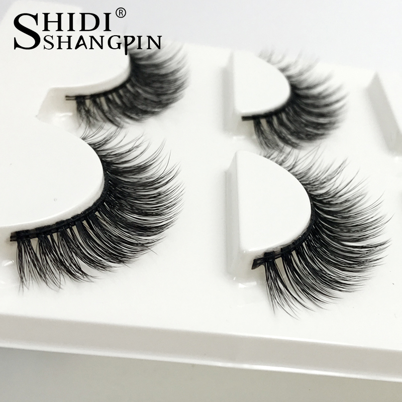 SHIDISHANGPIN 3 Pairs Mink Eyelashes Natural Long 3d Mink Lashes Hand Made False Eyelashes 3d Lashes Eyelash Extension Maquiagem