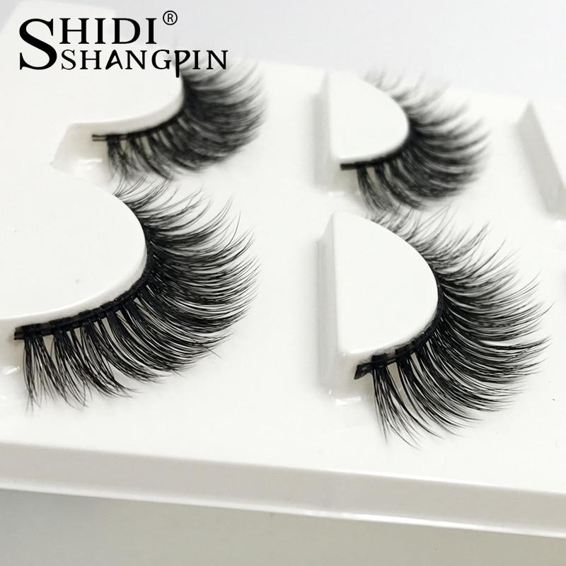7cb0424d5d4 SHIDISHANGPIN 3 Pairs mink eyelashes natural long 3d mink lashes hand made  false eyelashes 3d lashes eyelash extension maquiagem-in False Eyelashes  from ...
