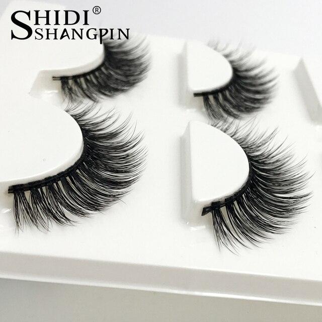 SHIDISHANGPIN 3 Pairs mink eyelashes natural long 3d mink lashes hand made false eyelashes 3d lashes eyelash extension maquiagem