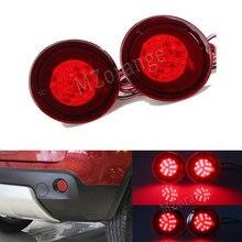 2PCS LED Tail light for Nissan Qashqai 08-13 Rear Bumper Reflector Light Fog Light Night Running Lamp Parking Warning Stop Brake все цены