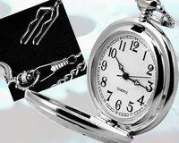 wholesale Men Vintage Small Dial Engraved Pendant Pocket Watch freeship