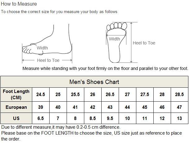 P-men size chart