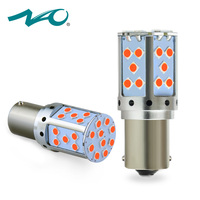 NAO P21W PY21W LED Canbus BA15S BAU15S 19W 1156 Car Led Light 3030 SMD Amber White