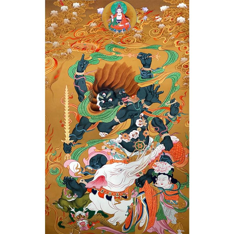 Tibetan Cloth Art Tangka Household Painting Tangka Four Heavenly Kings Hall Decoration Painting(China)