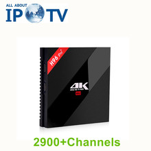 Boîtier Tv intelligent d'origine H96pro + Anadroid Europe IPTV arabe USA UK France italie allemagne suède grec néerlandais H96 pro + décodeur(China)