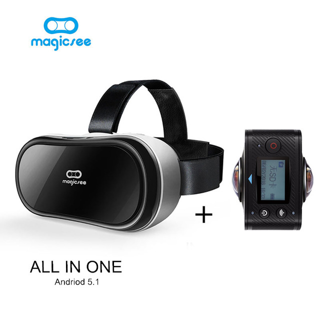 Magicsee 360 Degree Action camera Dual Lens Wifi 1080P FHD 360 degree camera +Mgicsee M1 all in one VR 3D Glasses