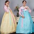 4 Цвет Мода Корейский Традиционный Платье Женщины Ханбок Корейский Платье Древний Одежда Роскошные Корейский Ханбок