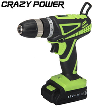 CRAZY POWER 12V Multi-function Electric Screwdriver Household Cordless Charging Electric Drill Rechargeable Lithium Battery