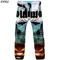 KYKU Хэллоуин штаны-карго Для мужчин Happy мешковатые тыквы Тактический животного прямые штаны 3d печати брюки Для мужчин s брюки панк-рок