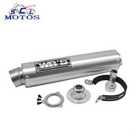 Sclmotos Universal Modified Motorcycle Exhaust Pipe For WRS Exhaust Muffler CB400 CBR400 VFR400 High Quality