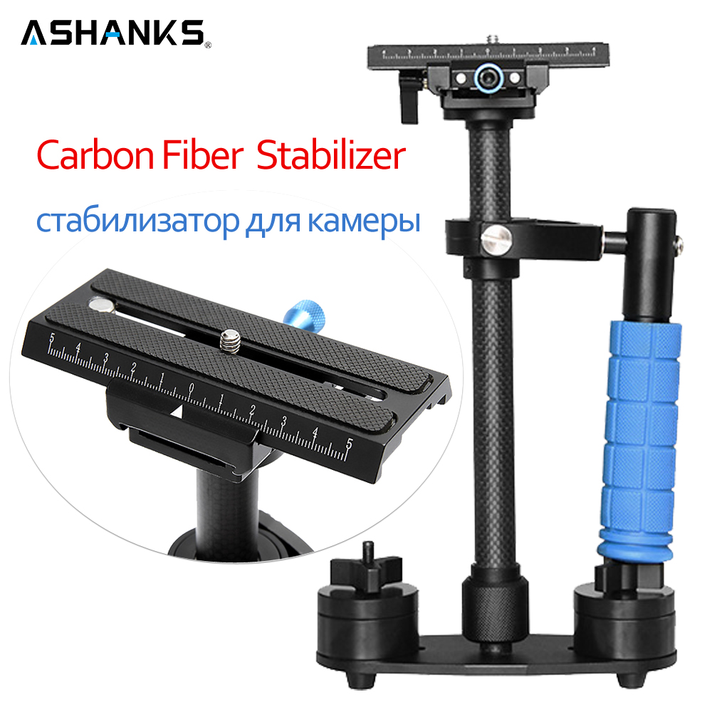 ASHANKS Dslr Steadicam 24/60cm S60C Carbon Fiber Handheld Stabilizer for DSLR Video Camera and DV Camcorder Steadycam ashanks 80cm 6 bearings carbon fiber slider dslr camera dv track slide