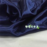 Deep Blue Silk Satin Fabric Bushaiding Wedding Scene Costumes In The Decorative Fabric Lining Material
