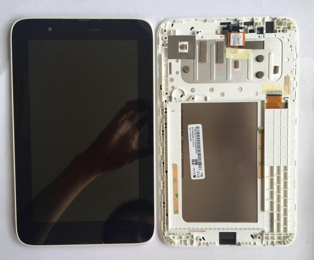 все цены на For Lenovo A3300-T A3300-HV touch LCD screen inside and outside the screen assembly with frame онлайн