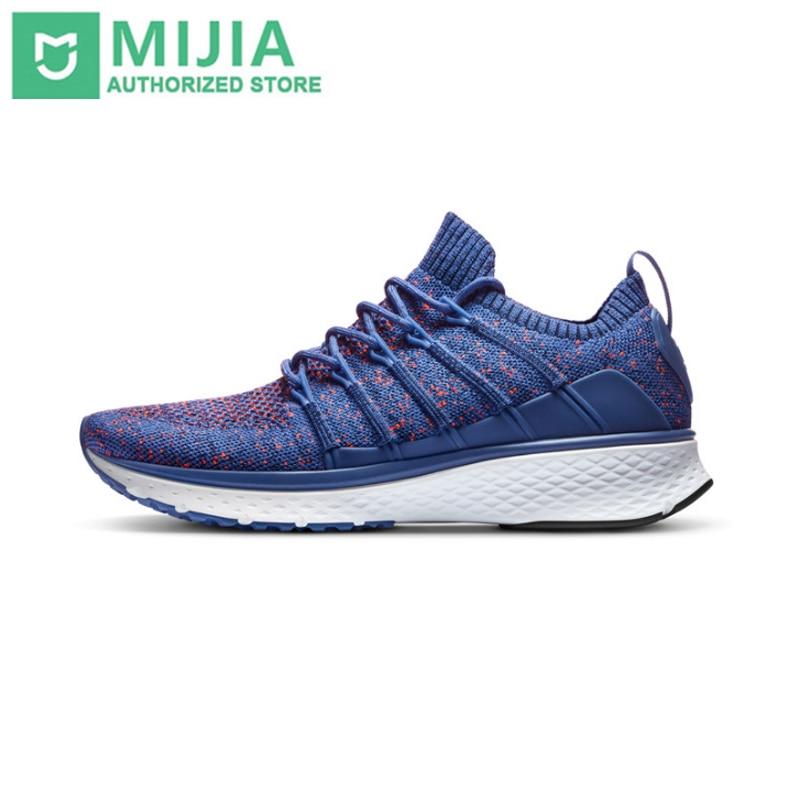 Original Xiaomi Mijia Schuhe Sneaker 2 Sport Laufen atmungs Neue Fishbone Lock System Elastische Strick Vamp für Männer Im Freien