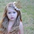 Encaje Venda de La Corona de cumpleaños Torta Del Bebé Romper Tiara Crown Hair Band Diadema Princesa Infantil Foto Atrezzo HB279