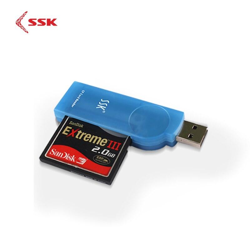 SSK universel haute vitesse USB2.0 CF lecteur de carte lecteur de carte Flash compacte pour ordinateur portable ordinateur portable SCRS028