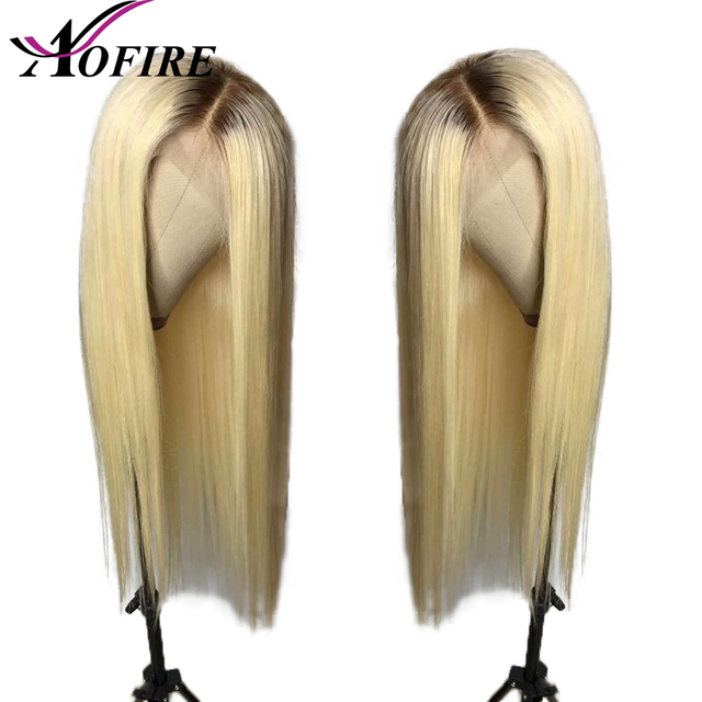 1B/613 Straight Hair Lace Front Human Hair Wigs Pre Plucked Brazilian Remy Hair with Baby Hair Bleached Knots For Women Aofire