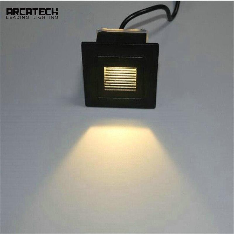 Einbau LED Schritt Lichter Pathway Wand Ecke Lampen Im Freien Wasserdichte LED Treppen Licht Aluminium Platz Wand Lampe ZU-71