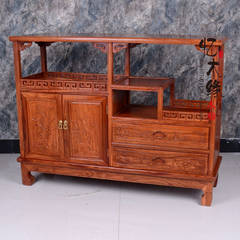 Mahogany sideboard modern Chinese antique tea cabinet wood rosewood cabinet cupboard cabinets bedroom cabinet antique solid oak small sideboard base